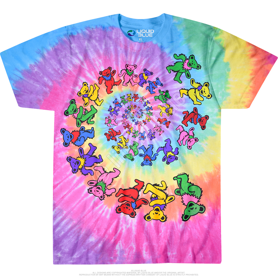Grateful Dead Spiral Bears Tie Dye T Shirt – Have to Have ...