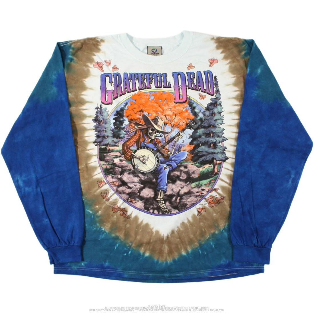 80d41c4e1 Grateful Dead Banjo Long Sleeve Tie Dye T Shirt